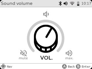 gameshell volume settings