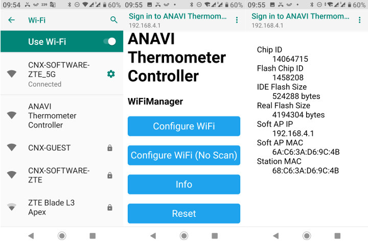 ANAVI Thermometer Controller Web Interface