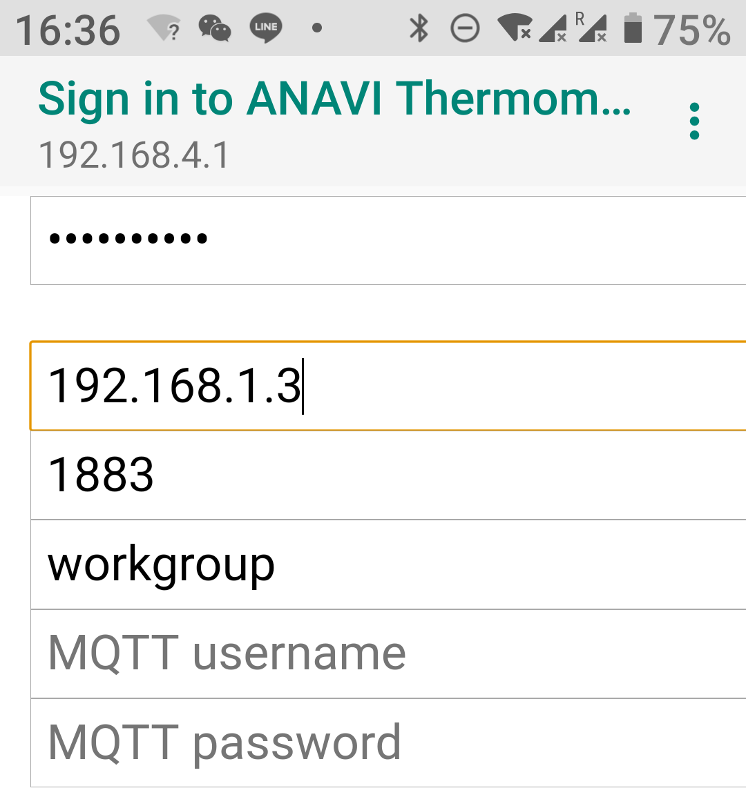 ANAVI Thermometer MQTT Server