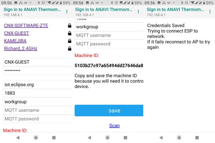ANAVI Thermometer WiFi MQTT Configuration