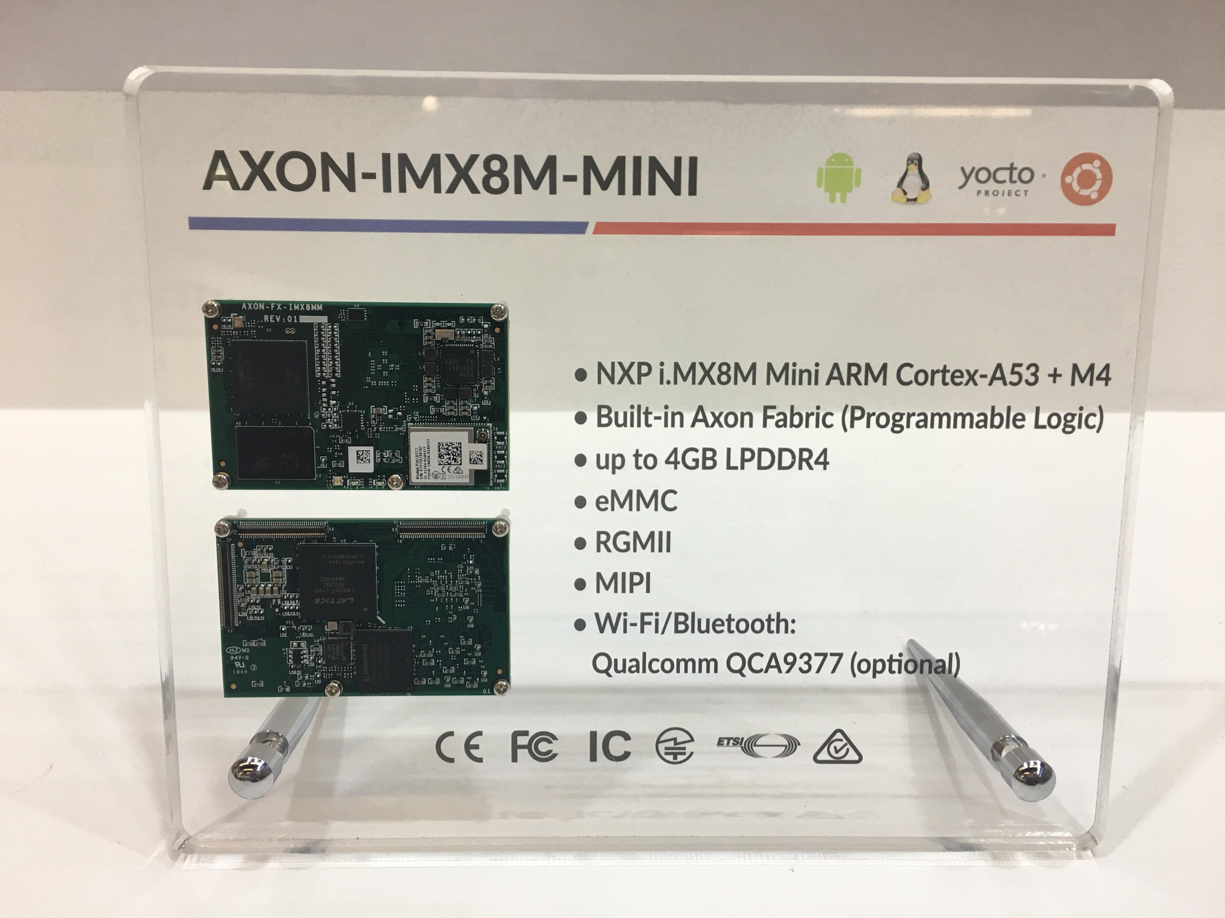 TechNexion AXON and FLEX SoM Families Feature i MX 8M Mini SoC, FPGA