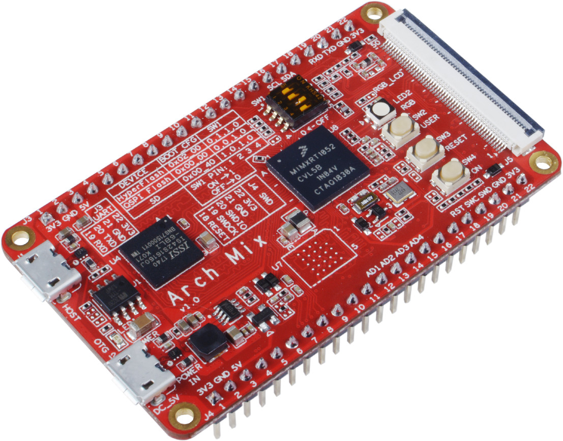 $30 Arch Mix Development Board Features NXP i MX RT1052