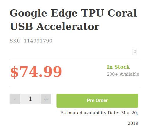 Buy Edge TPU Coral USB Accelerator