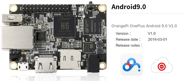 Orange Pi One Plus Android 9.0