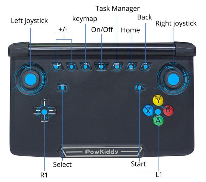 PowKiddy X18 Buttons