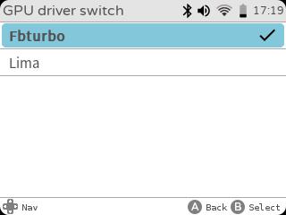 gameshell gpu driver