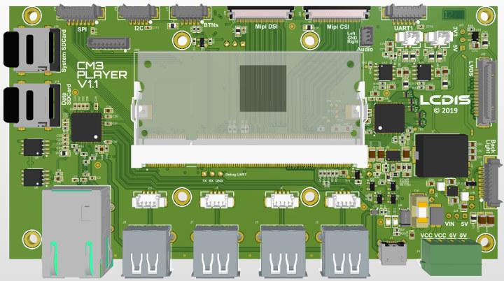 CM3 PLAYER Raspberry Pi LVDS