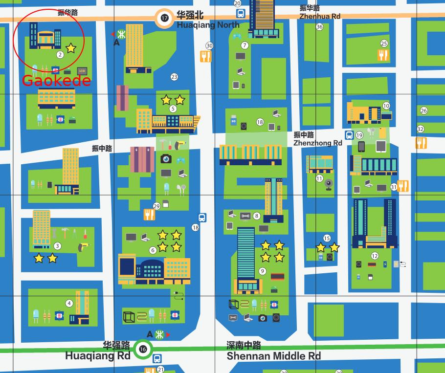 Huaqiangbei map gaokede