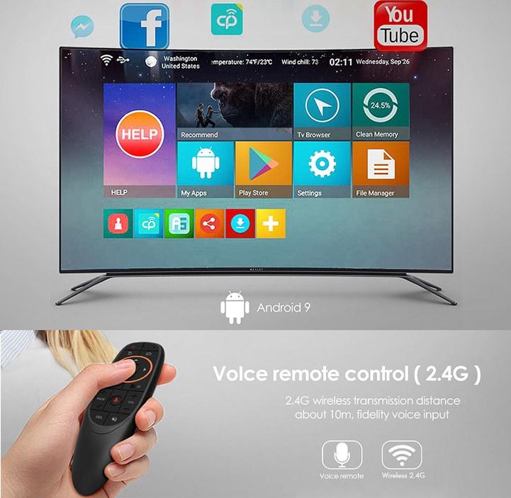 Android 9 TV Box Voice Remote Control