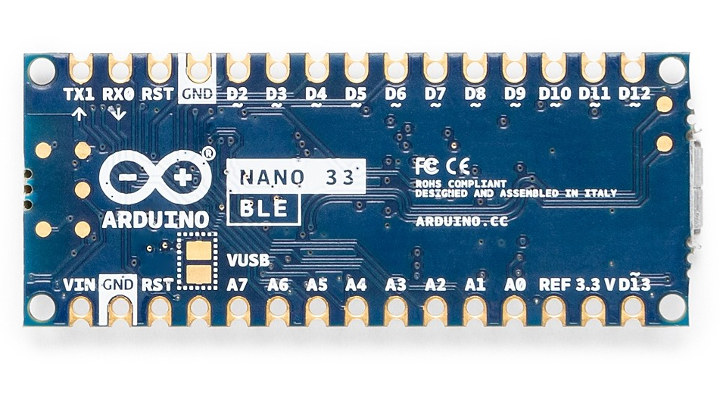 Arduino Nano 33 BLE Pinout
