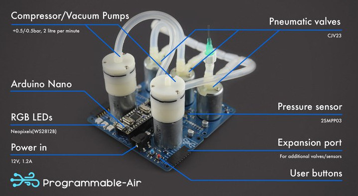 Programmable-Air Arduino Nano Pneumatics Kit