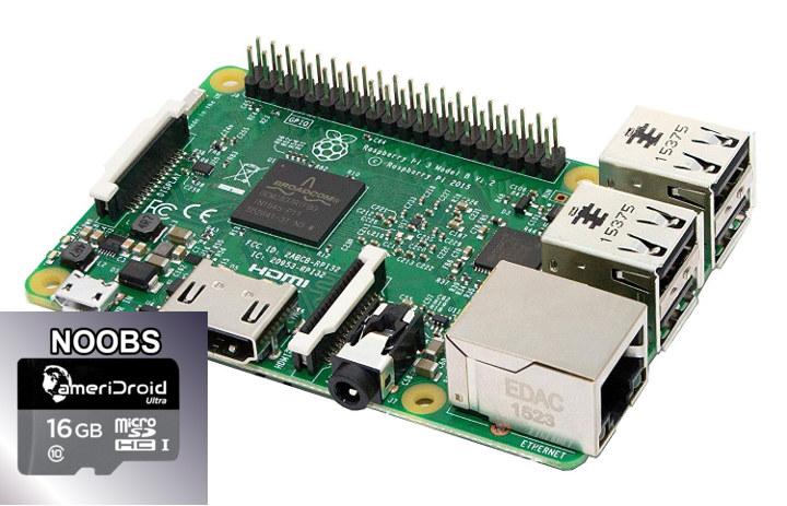 Raspberry Pi 3 Model B Free microSD Card