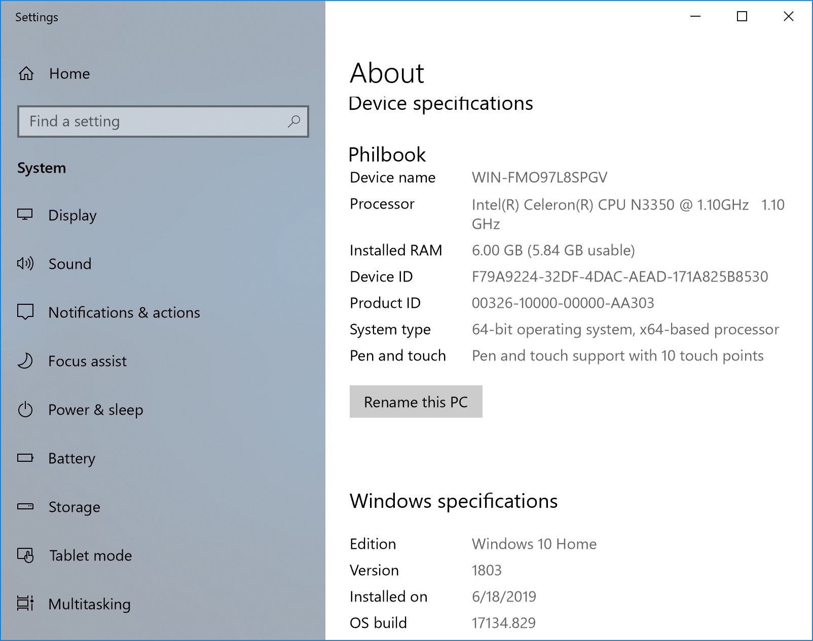 About XIDU PhilPad Windows 10