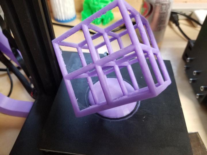 Lattice cube Zonestar Z6 3D print