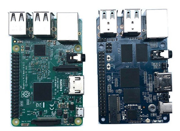 Raspberry Pi 3 vs Banana-Pi BPI-M4