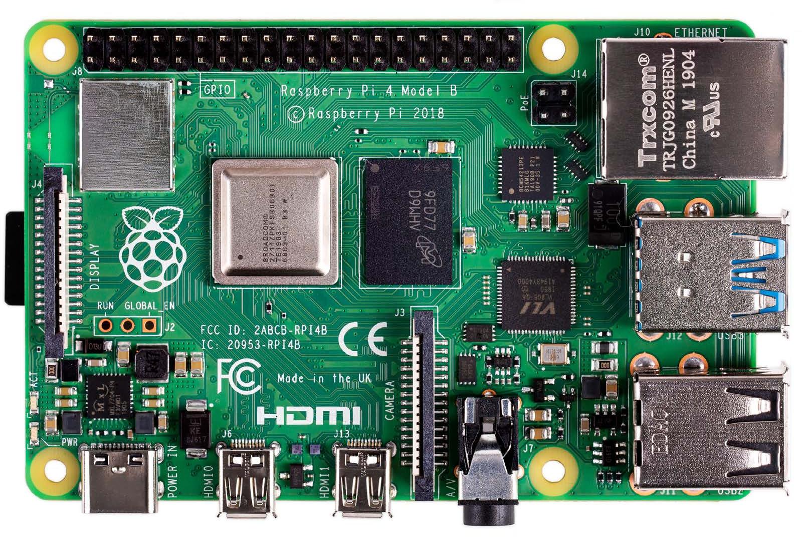 Raspberry Pi 4 Features Broadcom BCM2711 Processor, Up to 4GB RAM