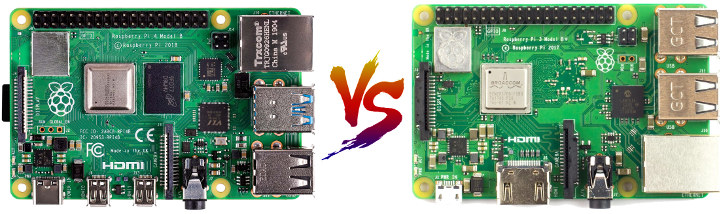 Raspberry Pi 4 vs Pi 3 B+