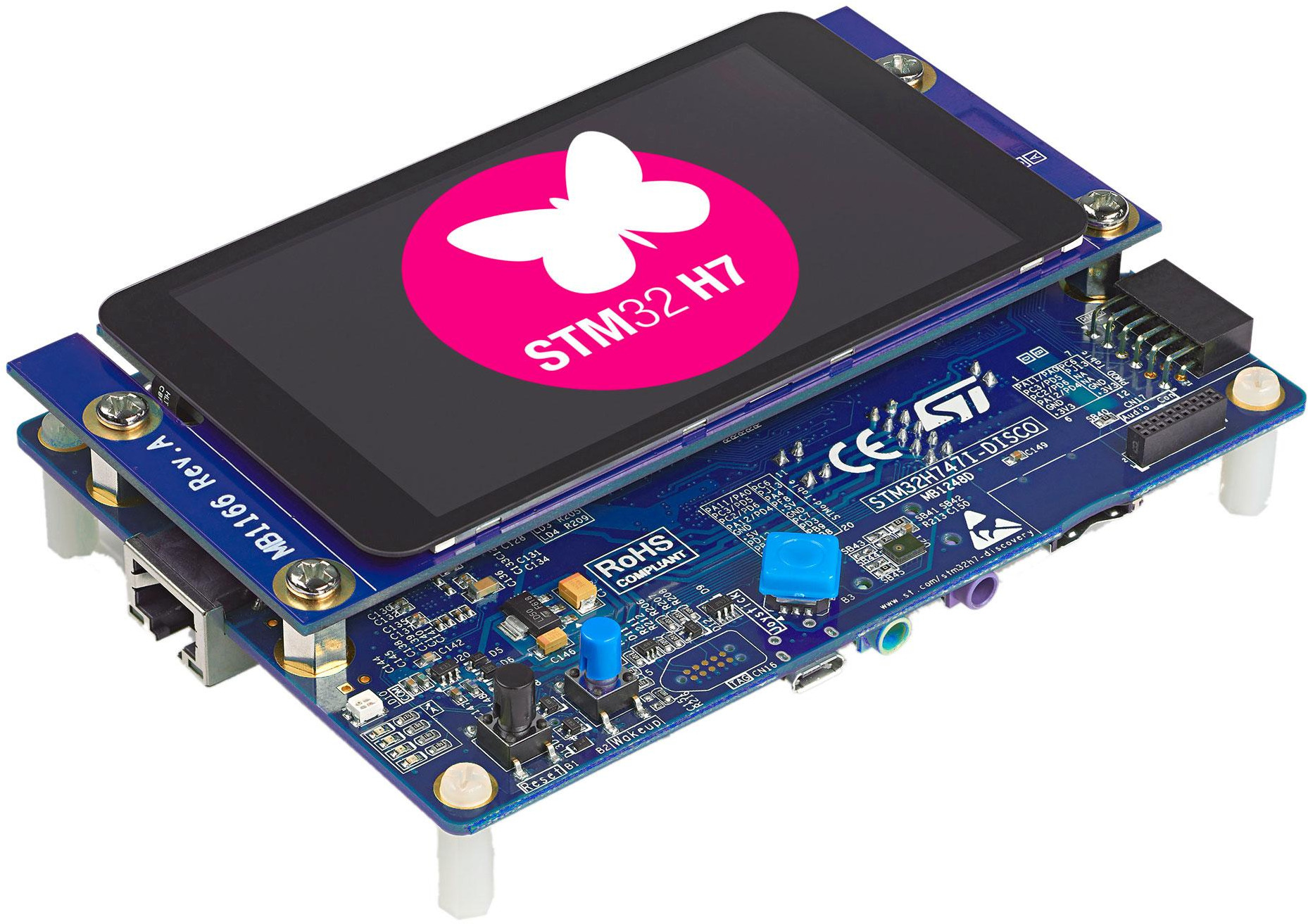 STMicro adds Dual-core Cortex-M7/M4 Microcontrollers to STM32H7 Family