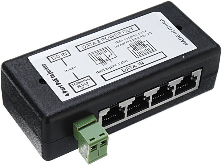 4-port poe injector