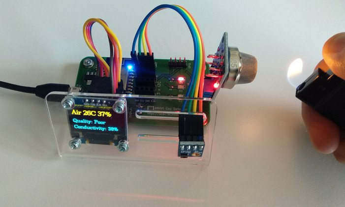 ANAVI Gas Detector ESP8266 Board Monitors Air Quality, Toxic