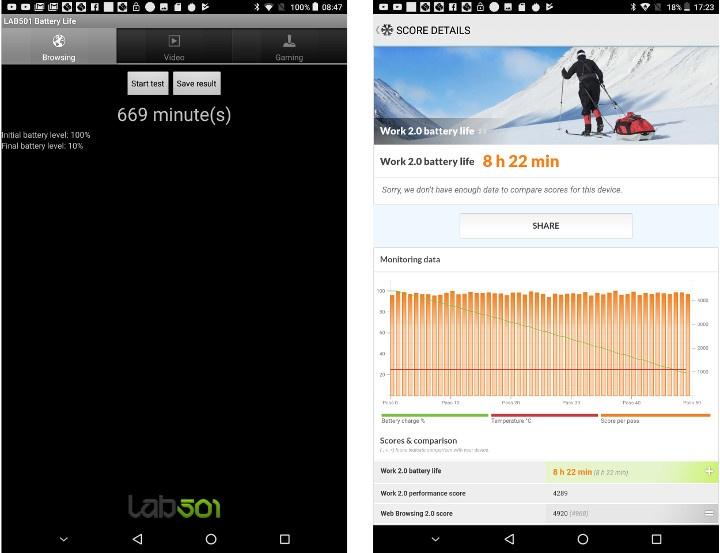 CHUWI HiPad LTE Battery Life