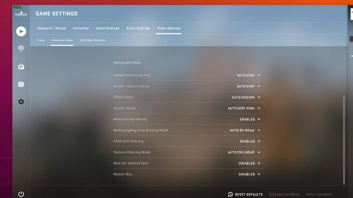 CSGO ubuntu default-advanced-video-settings