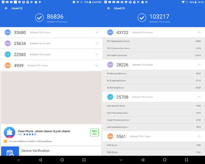 Chuwi HiPad LTE Antutu 7.2.2