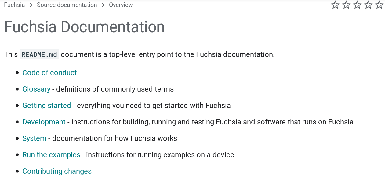 Fuchsia Documentation