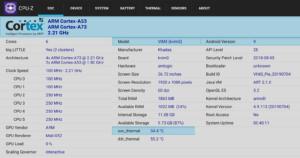 Khadas VIM3 Amlogic A311D CPU-Z
