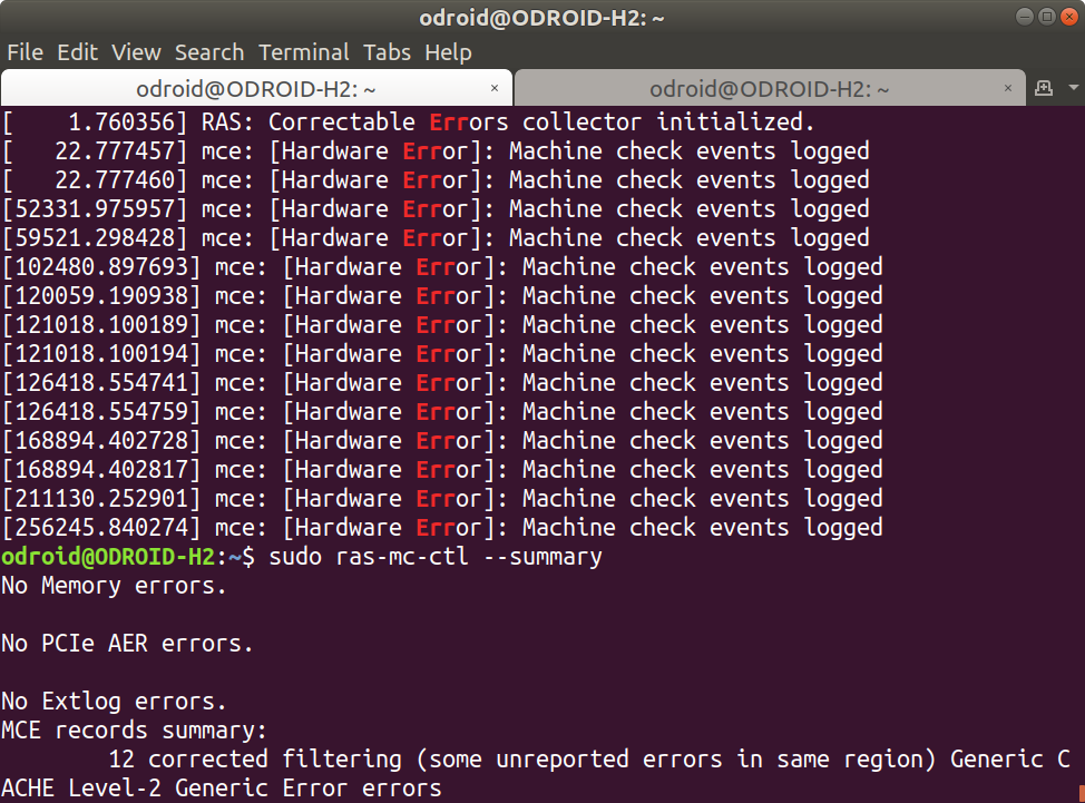 Machine Check Exception Error Linux