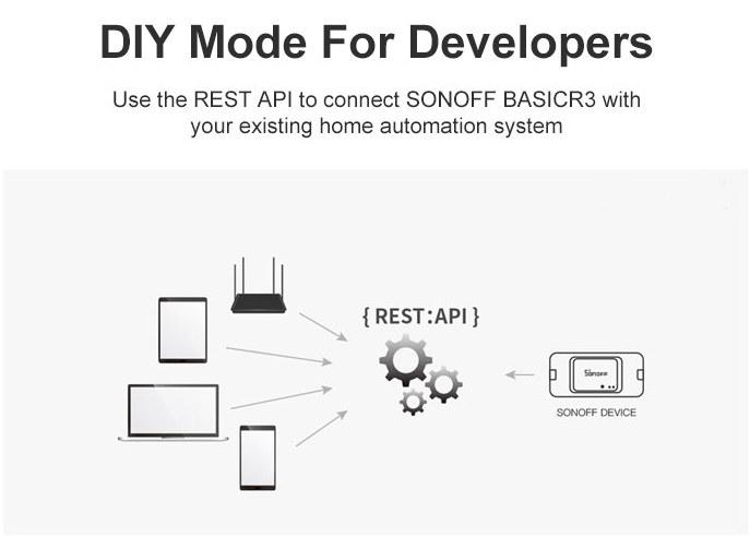 Sonoff DIY Mode REST API