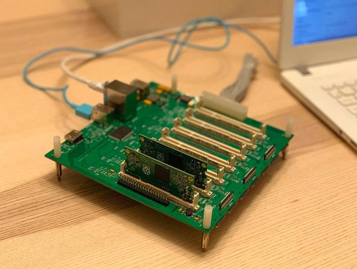 Turing Pi Raspberry Pi Compute-Module 3+ Cluster Board
