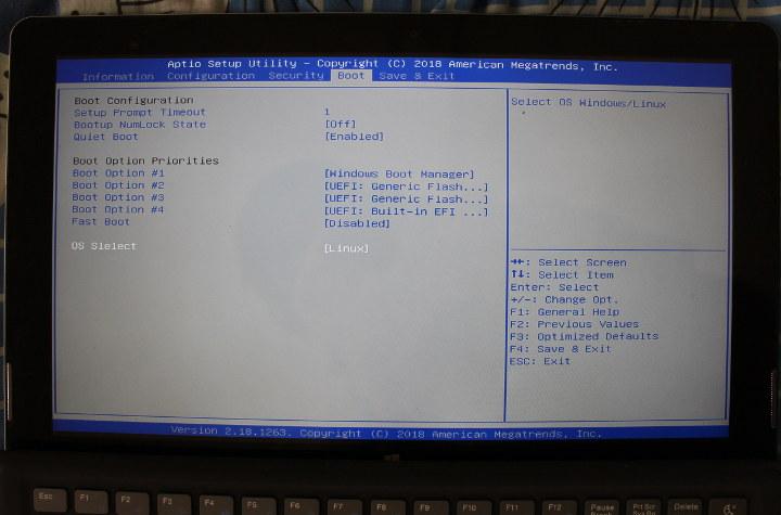XIDU Philpad BIOS Linux