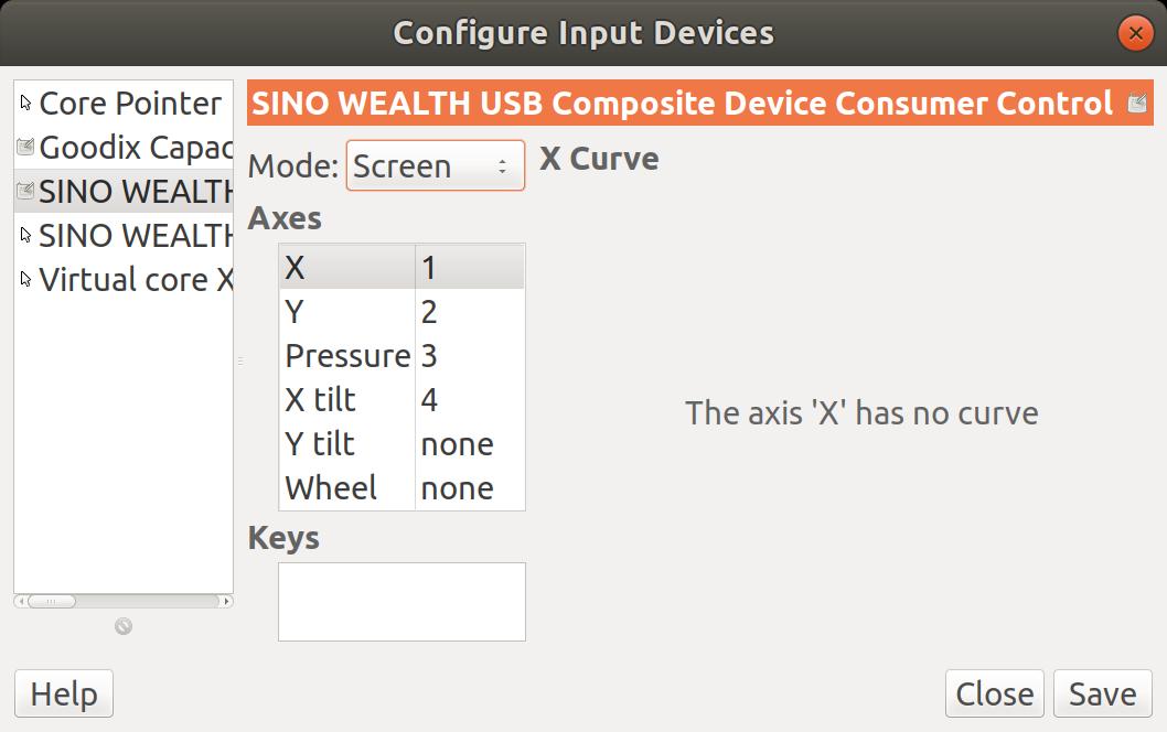 gimp input device stylus ubuntu