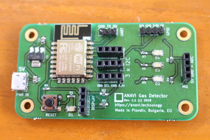 ANAVI ESP8266 Gas Detector Board