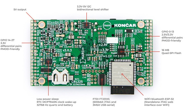 ECP5 FPGA + ESP32 Module