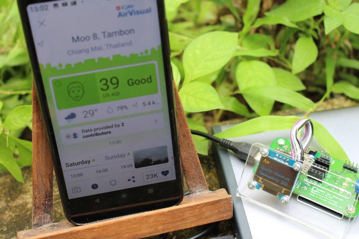 ESP8266 Gas Detector-vs AirVisual Air Quality