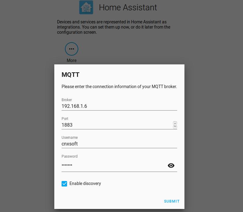 Home Assistant MQTT