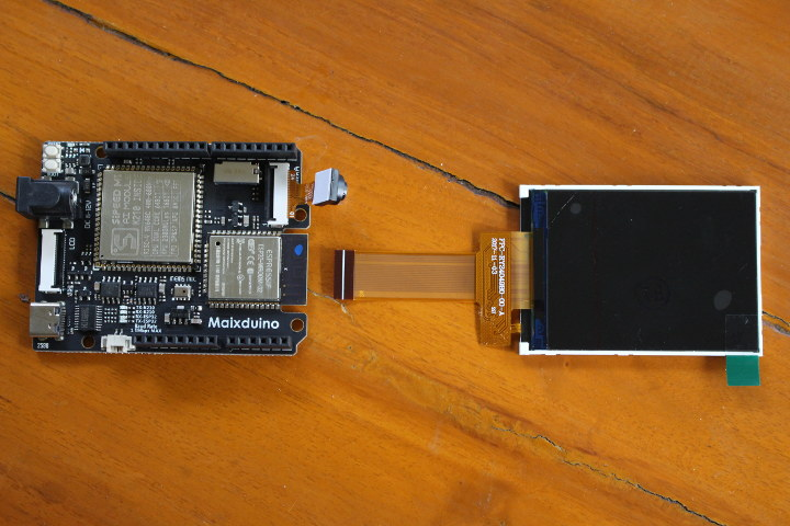 Maxiduino kit with camera, LCD display