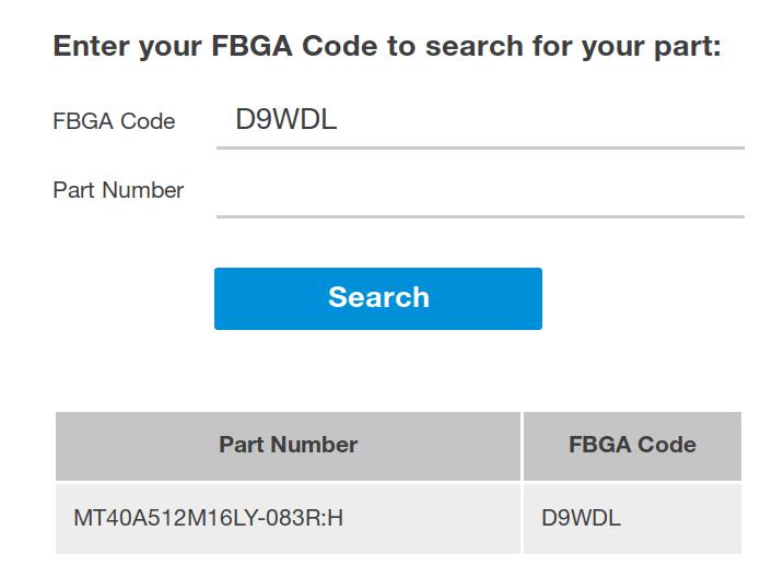 Micron FBGA Code Decoder