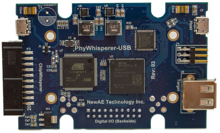 PhyWhisperer-USB Python Controlled USB 2 0 Sniffer Enables