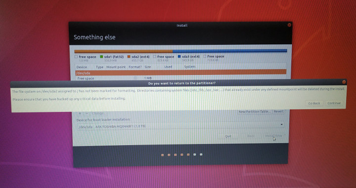 Reinstall Ubuntu 18.04 backup warning