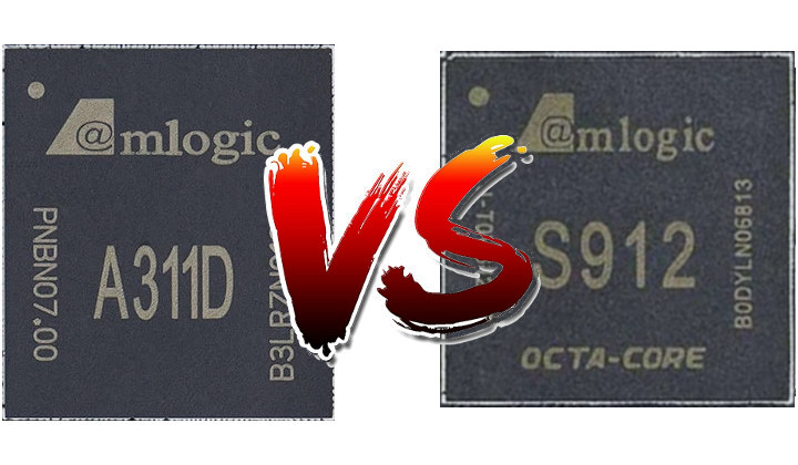 Amlogic S912 vs Amlogic A311D/S922X-B Benchmarks Comparison