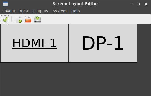 lxde extended desktop arandr