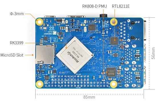 RK3399 SBC LPDDR4