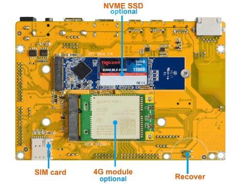 SBC M.2 NVMe SSD & mPCIe 4G LTE card