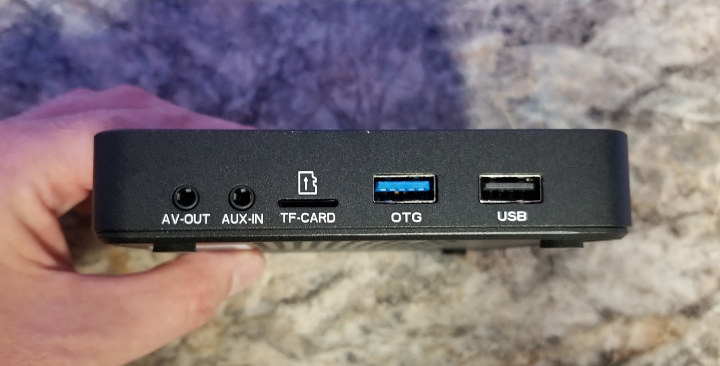 AV Out, AV In, TF Card, USB