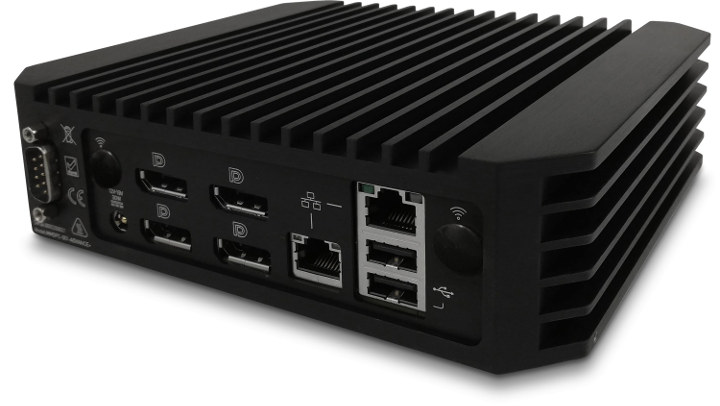 Four DisplayPort Mini PC