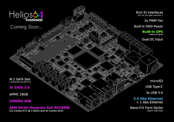 Helios64 RK3399K mini-ITX Board