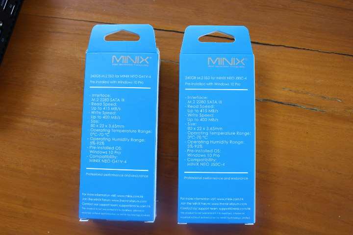 MINIX SSD 240GB Specs